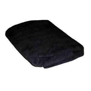 Direct Salon Supplies Microfibre Black Towels Pack 12