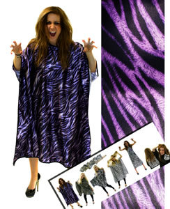 Hair Tools Purple Tiger Print Gown