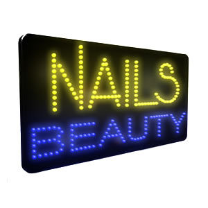 Direct Salon Supplies LED Nails Beauty Sign