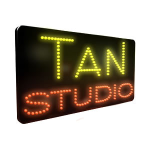 Direct Salon Supplies LED Tan Studio Sign