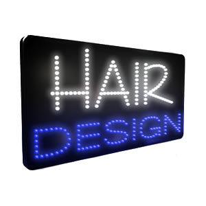 Direct Salon Supplies LED Hair Design Sign
