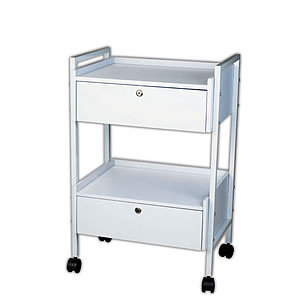 Direct Salon Supplies Two Tier White Trolley