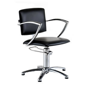 REM Atlas Hydraulic Styling Chair in Black Upholstery