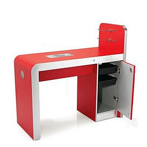 Rem infinity nail bar with storage for Cheap nail desk