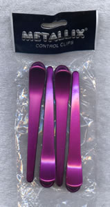 Metallix Pink Long Section Clips Pack 4