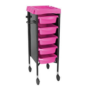 Direct Salon Supplies Milano Pink And Black Salon Trolley
