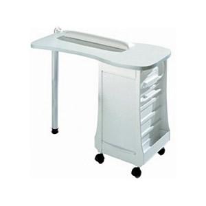 Direct Salon Supplies White Manicure Table