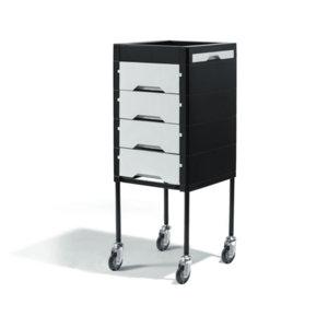 Direct Salon Supplies Secret Black and White Beauty Trolley