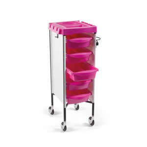 Direct Salon Supplies Milano White and Pink Trolley
