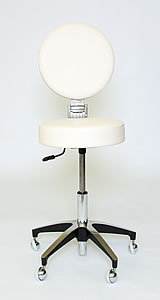 WBX 241 Stool With Folding Backrest In White