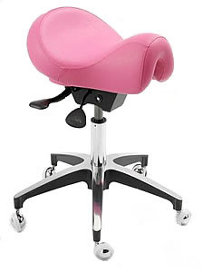 WBX Ascot Saddle Gas Lift Stool In Pink