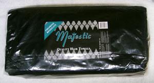 Majestic Towel Black Bleach Resistant Pack of 12