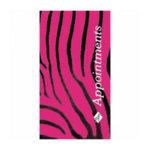 Agenda 3 Col Pink & Black Zebra Appointment Book