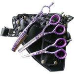 Glamtech EVO Purple Zebra Scissor And Razor Set