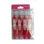 Crewe Orlando Croco Clips Red Pack 4