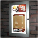 Direct Salon Supplies Lockable Illuminated Price List Cases With Printed Header