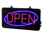 Direct Salon Supplies Small Static Open Red/Blue Led Sign