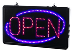Direct Salon Supplies Large Static Open Red/Blue LED Open Sign