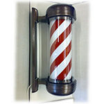 Direct Salon Supplies Premium Revolving Barbers Pole (Red-White)