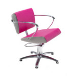 REM Aero Hydraulic Styling Chair in Coloured Upholstery