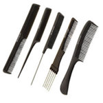 Head Jog Black 5 Combs Set