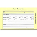 Direct Salon Supplies Beauty Record Cards Pack 100
