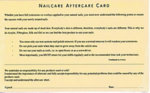 Direct Salon Supplies Nail Aftercare Cards Pack 100