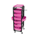 Direct Salon Supplies Control Trolley Black/Pink
