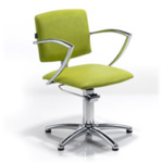 REM Atlas Hydraulic Styling Chair in Colored Upholstery